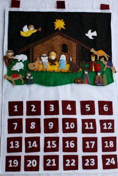 Felt Advent Calendar -- Nativity Scene / DIY idea