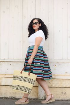 Seeing Stripes, Tanesha Awasthi. For more inbetweenie and plus size inspiration go to www.dressingup.co.nz
