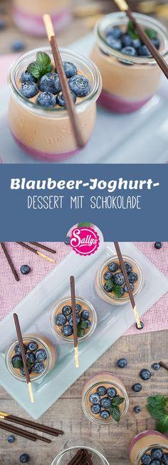 Fruchtiger Blaubeer-Joghurt-Dessert mit leckerer Schokolade!
