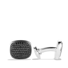 Pavé Cuff Links with Black Diamonds