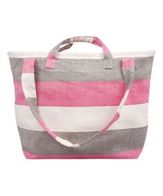Look at this #zulilyfind! Pink Stripe Kensington Tote by Tad Pepper #zulilyfinds