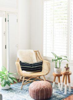 Modern California beachy boho minimalistic bedroom