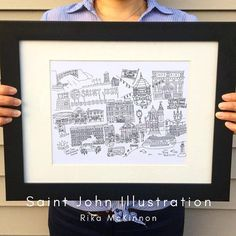 Your place to buy and sell all things handmade Saint John New Brunswick, New Brunswick Canada, City Illustration, Brown Paper, Japanese Culture, Hand Drawn, All Things, How To Draw Hands, Saints