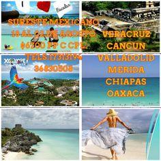 Sureste Mexicano en Julio 18 al 02 $6700 pp c cpl. Hoteleria y Transporte reserva Hoy