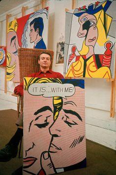 Roy Lichtenstein in Studio, 1963, Photograph by John Loengard. Veja também: http://semioticas1.blogspot.com.br/2013/01/o-primeiro-warhol.html
