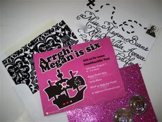 "pirate party invitation, add 2 silver coins to each envelope. ""X"" marks the spot to the treasure"