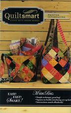 QUILTSMART MIDI BAG  PATTERN~INSTRUCTIONS & INTERFACING TO MAKE 2 BAGS~FUN EASY