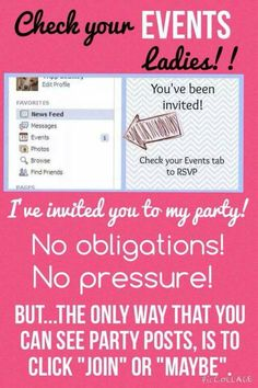 Check your events Have a FREE party, shop online, or join my team! Contact me…