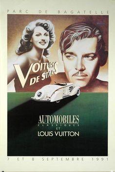 Razzia -Parc de Bagatelle Louis Vuitton - Clark Gable Original Poster 1991