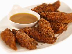Spicy Chicken Tenders with Honey-Mustard recipe from Giada De Laurentiis via Food Network