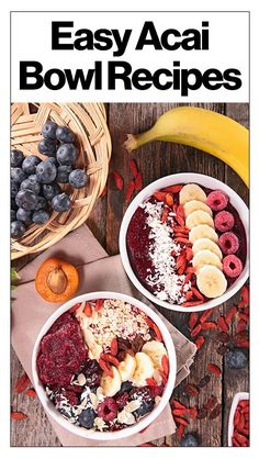 2 easy recipes for making acai bowls