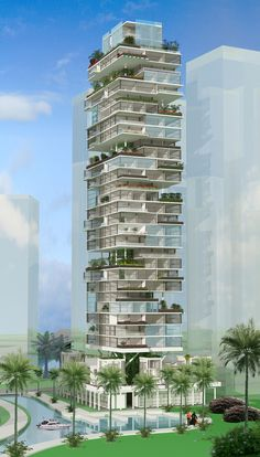 The expansion and production of our societies possesses a substantial impact on our natural surrounding, green developing helps minimize that often influence. Condominium Architecture, Green Architecture, Concept Architecture, Futuristic Architecture, Residential Architecture, Amazing Architecture, Architecture Design, Unique Buildings, Beautiful Buildings