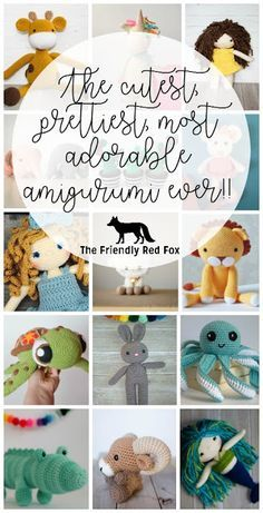 Favorite Amigurumi Patterns- the cutest, prettiest, most adorable amigurumi available in one spot!