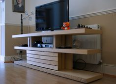 OptiMalm Prime: Malm bed base transformed into a TV Unit #livingroom #ikeahack