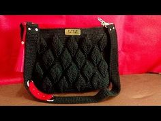 crochet || tutorial crochet bag || 3 D leaf - YouTube