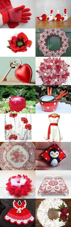 gifts of red and white by Albina Kapitonova on Etsy--Pinned+with+TreasuryPin.com