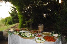 Cambrian buffet for your Italian wedding