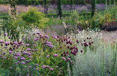 silver and purple garden