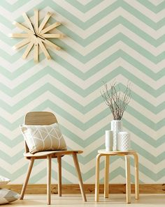 Funky Wallpaper Designs For Walls - Whether you making a new one to your new house or are remodeling your current bathroom, the bathroom's wall design is Wallpaper Chevron, Wallpaper Designs For Walls, Funky Wallpaper, Wallpaper Direct, Vinyl Wallpaper, Original Wallpaper, Pattern Wallpaper, Wallpaper Ideas, Green Wallpaper
