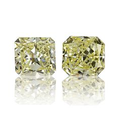 #yellowdiamond, #diamonds, #jewelery, #diamondjewelery A very nice pair of natural yellow diamonds. Two perfectly matched radiant shaped stones, 0.31ct light yellow VS1 and 0.29ct light yellow VS1. Both stones are certified by our in house gemologist (printed report supplied upon request).