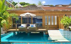KC Resort and Over Water Villas. No other resort on Koh Samui can offer the unique and memorable experience of sleeping in a luxury villa over water. Built on stilts above a private infinity edge pool, this luxury collection of Bora Bora style villas has cosy cabin interiors with deluxe designer details.
