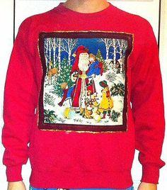 Mens Threadbare Christmas Top Novelty Sweatshirt Sweat Festive Xmas Bells BLING