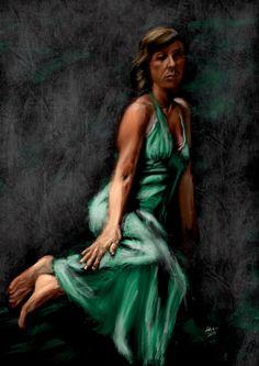 Green Dress by Richard Bell