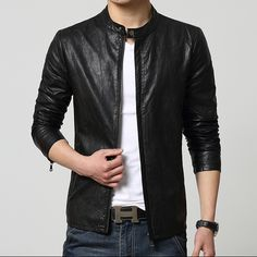 http://fashiongarments.biz/products/spring-autumn-new-casual-slim-mens-clothing-fashion-short-design-outerwear-stand-collar-leather-jacket-free-shipping/,      Spring autumn New casual slim men's clothing fashion short design outerwear stand collar leather jacket / free shipping !    size/cm    shoulder    bust    sleeve   lengthe  Tips: manual measurement will 1-2CM error , please ...,   , fashion garments store with free shipping worldwide,   US $75.00, US $75.00  #weddingdresses…
