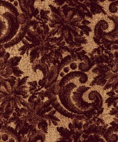 Scenic (CA8174/010) - Carlucci di Chivasso Wallpapers - A flamboyant flocked, trailing floral damask design- show here in deep red on a gold background. Paste the wall product. Other colours available. Please request a sample for a true colour match.
