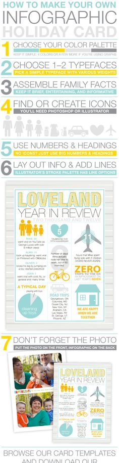 How to make a Year in Review Infographic Christmas card.