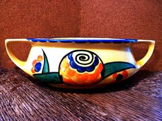 Midcentury CZECH Centerpiece BOWL  1960s Abstract by Greentiques, $65.00
