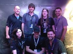 Members of the ESO team hanging out with the Tamriel Foundry crew (Atropos, Grimalkin, and Phazius) and Twitch streamers DeaganTV and SomaPlays.
