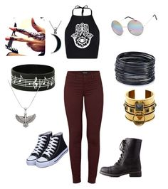 """""""Downtown"""" by annayab on Polyvore featuring Boohoo, J Brand, Charlotte Russe, Full Tilt, ABS by Allen Schwartz, Carolina Glamour Collection, Alex and Ani and Alexander McQueen"""