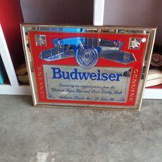 Budweiser mirror sign. $38. #Tallahassee #vintage #decor #beer #Budweiser #sign…