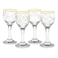 Mixed Vintage Cordial Glasses, Set of 4 | Williams-Sonoma