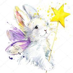 Картинки по запросу кролики акварелью