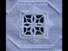 Tathinha Bordados #17 - PONTO ROSETA HARDANGER - BORDADO - YouTube