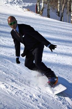 Next time I snowboard, I do it in a suit. Classy as hell.