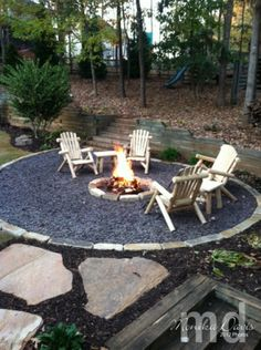 fire-pit slate chips ground cover