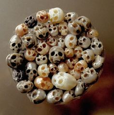 Carved pearls created by Christopher Jobson.
