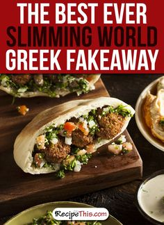 Slimming World Greek Fakeaway Dive into a night Greek food with our family focused Slimming World friendly Greek takeaway menu. Slimming World Hummus, Slimming World friendly Greek takeaway menu. Healthy Prepared Meals, Healthy Recipes, Vegetarian Recipes, Patti Jinich Recipes, Syn Free Snacks, Fresh Vegetables, Veggies, Vegan Falafel Recipe, Israeli Salad