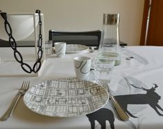 Deer, By Brorson, cats and bird on the Eye Spy plates from Citta Design
