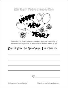 New Year Resolutions printable   New Year\'s Eve   Pinterest ...