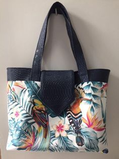 Sac  Madison tropical cousu par Sylvie - patron Sacôtin