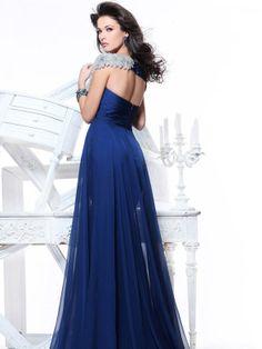 osell wholesale dropship Sleeveless V Neck Chiffon Flower Beading Pleated A Line Floor Length Evening Prom Dress $88.56