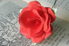 Hey, I found this really awesome Etsy listing at https://www.etsy.com/listing/267768683/single-red-rose-paper-flower-handmade