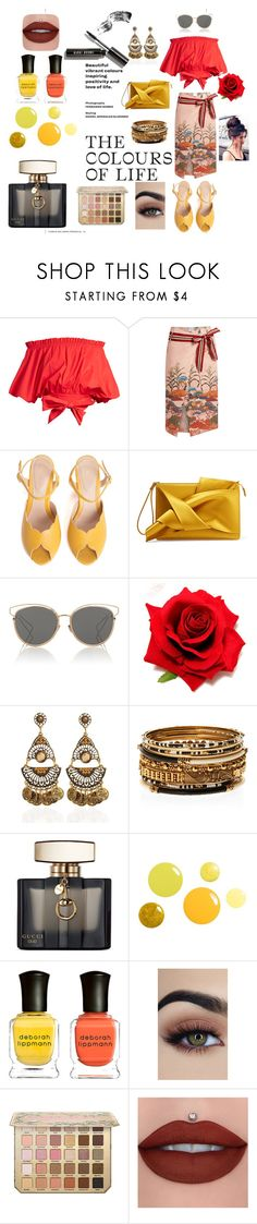 """Colours of life!"" by lovelyds1986 ❤ liked on Polyvore featuring Saloni, Stella Jean, SPECIAL DAY, N°21, Christian Dior, Amrita Singh, Gucci, Deborah Lippmann and Bobbi Brown Cosmetics"