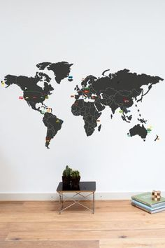 Mykea worldmap with stickers to highlight favorite spots $79 euros
