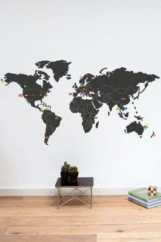 Mykea worldmap with stickers to highlight favorite spots $79 euros