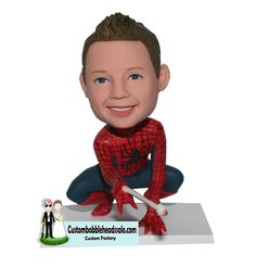 Custom Bobblehead Spiderman From Photo Find unique Christmas presents and gift ideas for men, women and kids at Custom Bobbleheads.